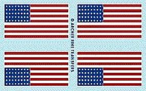 Archer American 48-Star Flags Plastic Model Vehicle Decal 1/35 Scale #35009