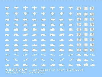 Archer German Victory Markings (White) Plastic Model Vehicle Stencil 1/35 Scale #35089w