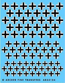 Archer Late WWII German Crosses Plastic Model Vehicle Stencil 1/35 Scale #35104