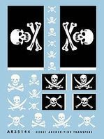 Archer Jolly Rogers Flags & Skull/Crossbones Insignias Plastic Model Stencil 1/35 Scale #35144