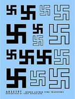 Archer Swastikas Early 10mm, 15mm, 20mm (Black) Plastic Model Vehicle Decal 1/35 Scale #35197b
