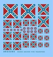 Archer Confederate Battle Flags Plastic Model Vehicle Decal 1/35 Scale #35205