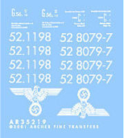 Archer BR52 Markings for TSM Plastic Model Vehicle Decal 1/35 Scale #35219