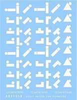 Archer US 1st Armored Division in Tunisia Geometric Unit Markings Plastic Model Decal 1/35 #35258w