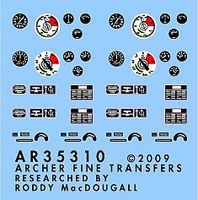Archer SdKfz 251/1 Instruments & Placards for DML Plastic Model Vehicle Decal 1/35 Scale #35310