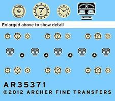 Archer MB 170V Instruments & Placards for MTB Plastic Model Vehicle Decal 1/35 Scale #35371