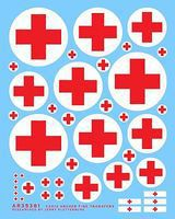 Archer German Ambulance Crosses & Uniform Patches Plastic Model Vehicle Decal 1/35 Scale #35381