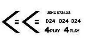 MPS II USMC M1A1 Abrams Tank Iraq OIF Plastic Model Vehicle Decal 1/72 Scale #72193