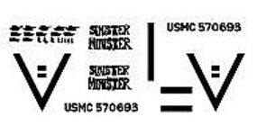 Archer 1st TKS USMC M1A1 Abrams Tank Iraq OIF Plastic Model Vehicle Decal 1/72 Scale #72194