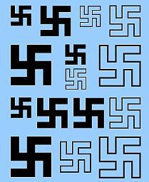 Archer Fine Transfers Swastikas Early 5mm, 7.5mm, 10mm (Black) -- Plastic Model Vehicle Decal -- 1/72 Scale -- #72197b