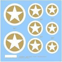 Archer US Softskin Gas Paint Stars (D-Day Version) Plastic Model Vehicle Decal 1/72 Scale #74009