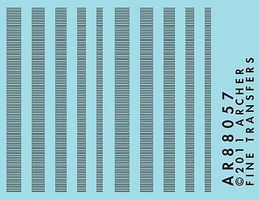 Archer Surface Details Railroad Louver Mix N Scale Model Railroad Decal #88057