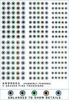 Archer Human Eyeball Decals Plastic Model Decal 1/4 Scale #99003