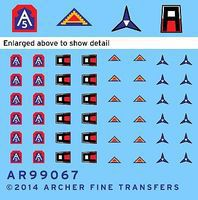 Archer US 1st, 5th, 7th Army & 3rd Corps Uniform Patches #3 Plastic Model Decal 1/35 Scale #99067