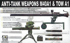 AFVClub Anti-Tank Weapons M40A1 & TOW A1 Plastic Model Military Diorama 1/35 Scale #35021