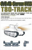 AFVClub M4 Sherman HVSS Type 80 Workable Track Links Plastic Model Tank Tracks 1/35 #35032