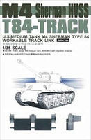 AFVClub M4 Sherman HVSS Type 84 Workable Track Links Plastic Model Tank Tracks 1/35 #35033