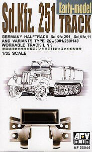 AFVClub SdKfz 251 Early Workable Track Links Plastic Model Vehicle Accessory 1/35 Scale #35044