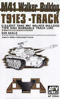 AFVClub M41 Walker Bulldog T91E3 Workable Track Links Plastic Model Tank Tracks 1/35 #35046