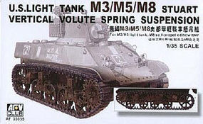 AFVClub US M3/5/8 Stuart Light Tank w/VVSS Plastic Model Tank Kit 1/35 Scale #35056