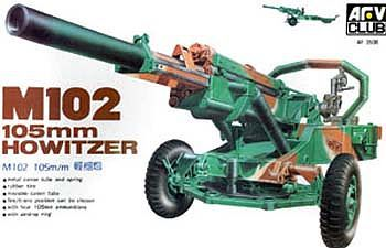 AFV Club M102 105mm Howitzer Gun -- Plastic Model Artillery Kit -- 1/35 Scale -- #3506