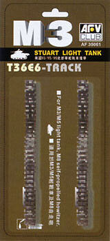 AFVClub T36E6 Rubber Tracks for M3/5/8 Tanks Plastic Model Tank Tracks 1/35 Scale #35061