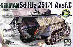 AFVClub SdKfz 251/1 Ausf C Halftrack Plastic Model Halftrack Kit 1/35 Scale #35078
