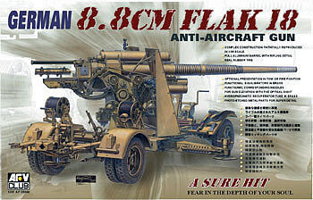 AFVClub German 8.8cm Flak 18 Anti-Aircraft Gun Plastic Model Artillery Kit 1/35 Scale #35088