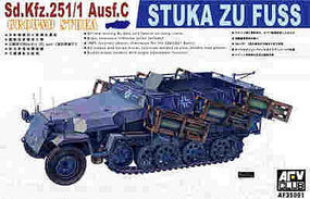 AFVClub German SdKfz 251/1 Ausf C Stuka Zu Fuss Plastic Model Halftrack Kit 1/35 Scale #35091