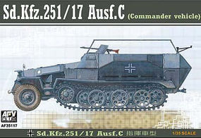 AFVClub SdKfz 251/17 Ausf C Command Halftrack Plastic Model Halftrack Kit 1/35 Scale #35117