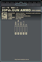 AFVClub British 20-Pdr Gun Ammo (Brass) Plastic Model Military Weapons 1/35 Scale #35158