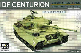 AFVClub IDF Shot Centurion Mk 5, 5/1 1967 Early Tank Plastic Model Tank Kit 1/35 Scale #35159