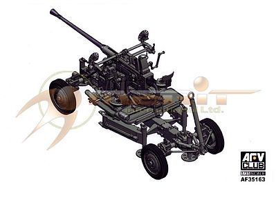 AFVClub Bofors 40mm Anti-Aircraft M1 Gun Plastic Model Artillery Kit 1/35 Scale #35163