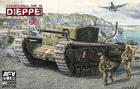 AFVClub British Churchill Mk III Dieppe Tank Plastic Model Tank Kit 1/35 #35176