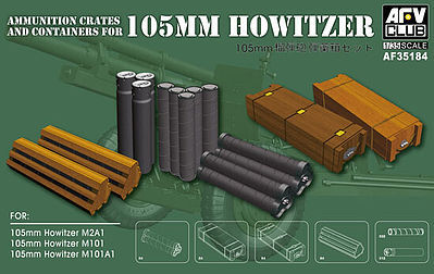 AFVClub AMMO CRATES & CONTAINERS 105mm Plastic Model Military Weapons #35184