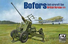 AFVClub British Bofors 40mm Mk III Late Anti-Aircraft Gun Plastic Model Artillery Kit 1/35 #3518