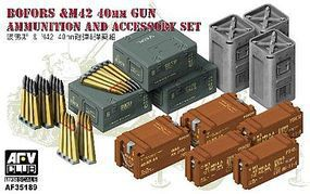 AFVClub British Bofors & M42 40mm Gum Ammo & Accessory Plastic Model Military Weapons 1/35 #35189