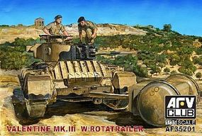AFVClub British Mk III Valentine Tank Plastic Model Military Vehicle Kit 1/35 Scale #35201