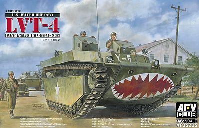 AFVClub US LVT4 Water Buffalo Early Amphibious Vehicle Plastic Model Amphibious 1/35 Scale #35205