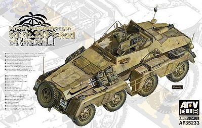AFVClub PzFuWg SdKfz 233 8-Rad with 7.5cm Gun Plastic Model Military Vehicle Kit 1/35 Scale #35233