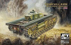 AFVClub Churchill Avre Tank with Snake Launcher Plastic Model Military Vehicle 1/35 Scale #35259
