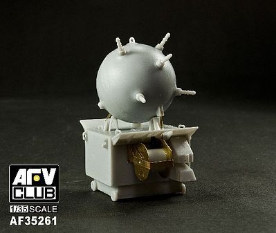 AFV Club German EMC Type II Mines (4) -- Plastic Model Military Weapon -- 1/35 Scale -- #35261