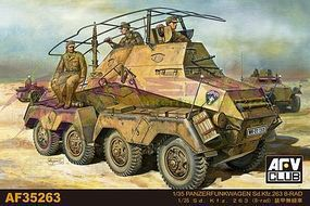 AFVClub PzFuWg SdKfz 263 8-RAD Vehicle Plastic Model Personnel Carrier 1/35 Scale #35263