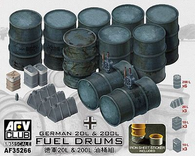 AFVClub GERMAN 20L & 2001 FUEL DRUMS Plastic Model Military Diorama #35266