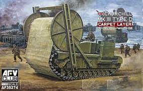 AFVClub Churchill Mk III Type D Carpet Layer Plastic Model Military Vehicle Kit 1/35 Scale #35274