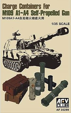 AFVClub 1/35 Charge Containers for M109 A1/A4 Self-Propelled Gun (New Tool)