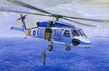 AFV Club S70C Blue Hawk Air Rescue Group -- Plastic Model Helicopter Kit -- 1/35 Scale -- #35s13