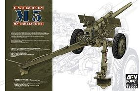 AFVClub US 3 Inch M5 Gun on M1 Carriage Plastic Model Artillery Kit 1/35 Scale #35s64