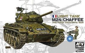 AFVClub M24 Chaffee Tank with French Shooter Plastic Model Military Vehicle Kit 1/35 Scale #35s84