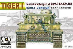 AFVClub Tiger I PzKpfw VI Ausf E SdKfz 181 Early Tank Plastic Model Tank Kit 1/48 #48002